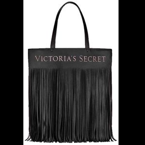 Victoria's Secret Logo Flirty Fringe Tote Bag